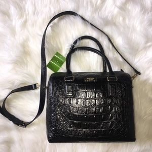 Brand New Black Leather Kate Spade Bag