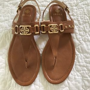 ISOLA caramel color sandals .EUC.Sz-8M.