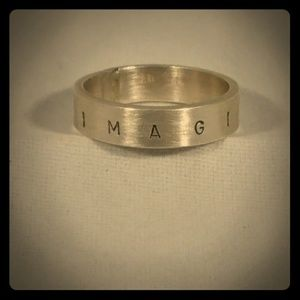 Sterling Silver Imagine Ring