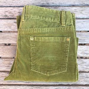 Corduroy light green jeans