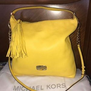 Michael Kors Yellow Pebbled Leather Purse