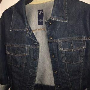 Denim half jacket