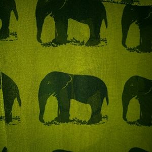 Forever 21 button down olive green elephant shirt