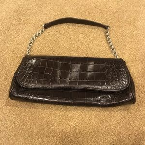 Ann Taylor leather clutch