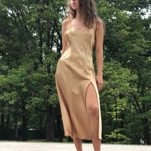 Beautiful Vintage Lingerie Gold Slip Dress 💛