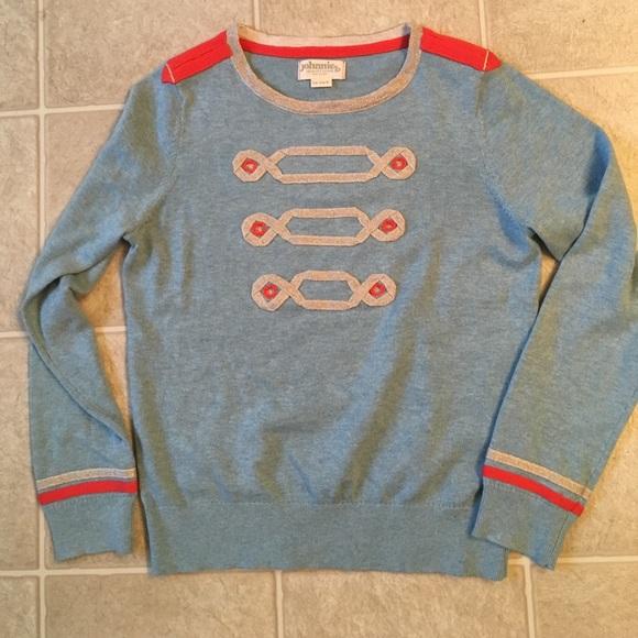 64% off Boden Other - New Boden nutcracker sweater blue stripe 12 ...