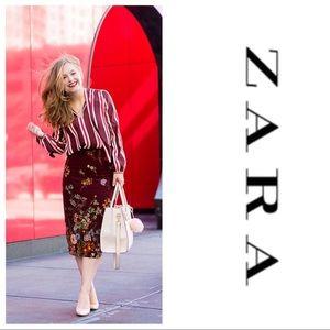 NWT Zara Floral Pencil Skirt