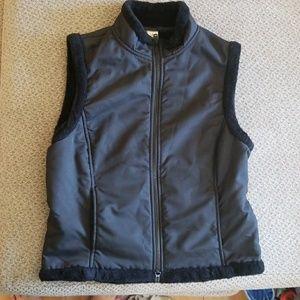 Prana black fleece lined vest size medium