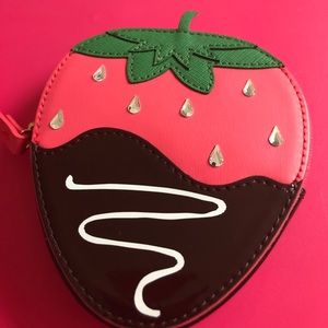 Chocolate covered strawberry coin purse. NWOT