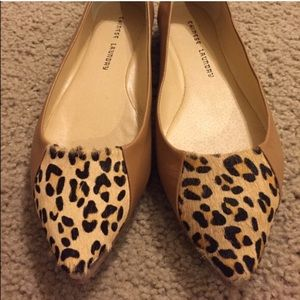 Chinese Laundry brown leather leopard print flats