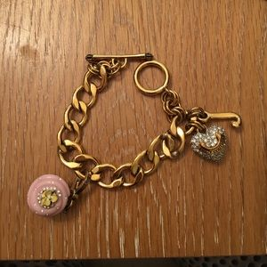 Juicy Couture bracelet with cupcake charm