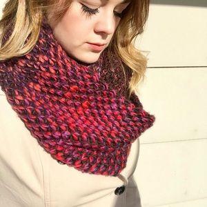 Beautiful knit infinity scarf