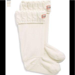Hunter cable knit socks