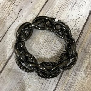 Chunky metallic metal stretchy bracelet