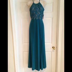 Morgan and Co teal gown