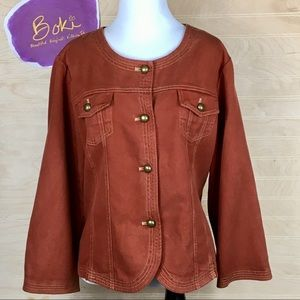 Cynthia Max Tencel Denim in Sienna Size XL