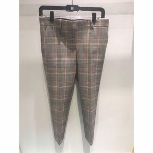 BRAND NEW Theory Treeca plaid trousers