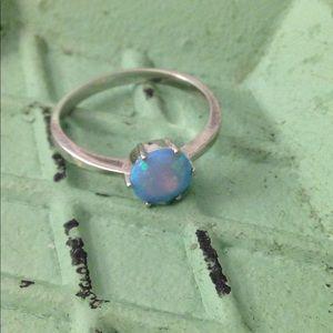 Opal Sterling Silver Rind