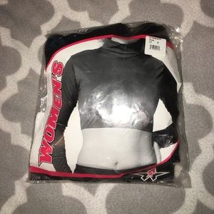 Cropped turtleneck cheer top