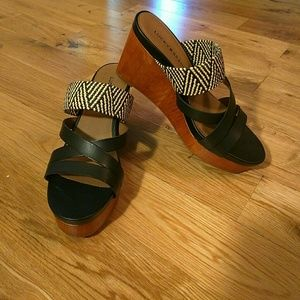 Lucky Brand Leather Platform Sandal