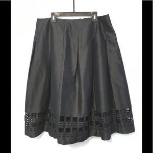Talbots A-line silk skirt 12 Black
