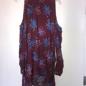 Free People shirt (or dress) with open shoulders
