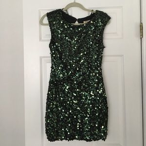 Arden B Green Sequin dress.