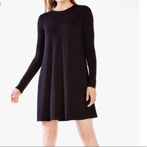 BCBG black long sleeve knit dress