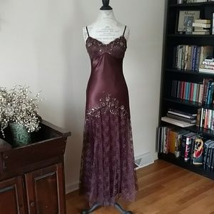 Stunning brown beaded gown prom weddings