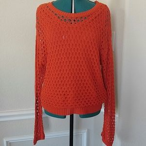 Deep orange sweater set