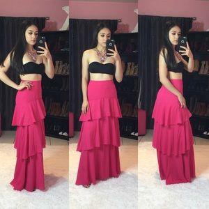 New ruffle Maxi skirt size S
