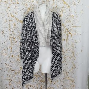 LOFT Ann Taylor waterfall open cardigan size large