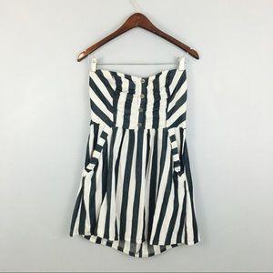Love Culture Gray Stripe Button Pocket Dress!