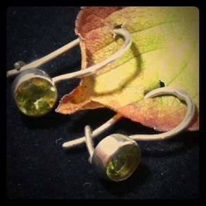 925 Sterling Silver Peridot Earrings