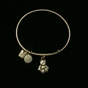 Alex and Ani Little Brown Bear Charity Bracelet