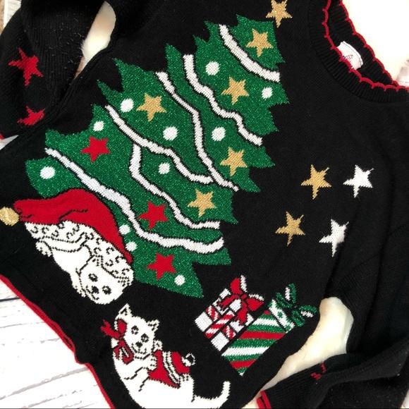 Vintage Sweaters Cat Lady 80s Christmas Sweater Kitty M Poshmark