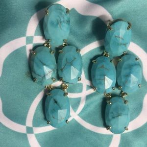 Kendra Scott Turquoise Magnesite Earrings