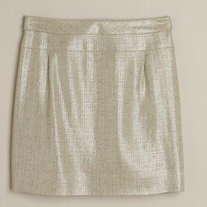 J Crew Matellase Mica Mini Skirt in Golden Flax