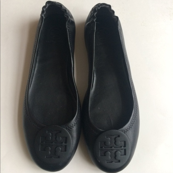 95b9ae540 Tory Burch Minnie Travel Ballet Flats black 7.5. M 59ee22ebeaf0308f4a0de32e