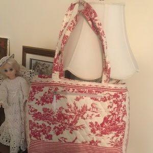 💕Toile colonial patterned bag💕