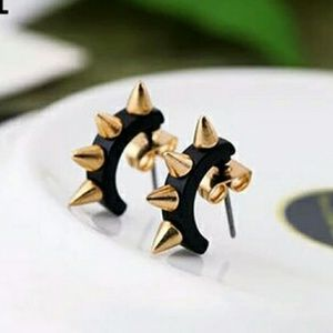 Punk style spike earrings