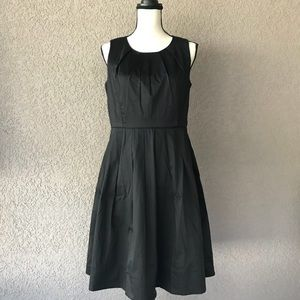 Talbots Black  Sleeveless Dress Pockets Size 10P