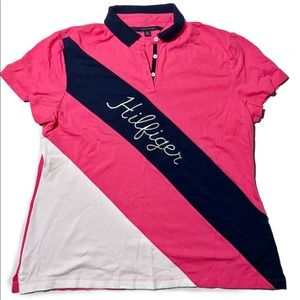 Tommy Hilfiger Polo shirt size xl womens pink