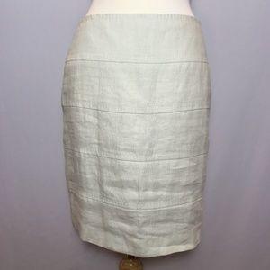 Banana Republic Cream Linen Skirt Size 6