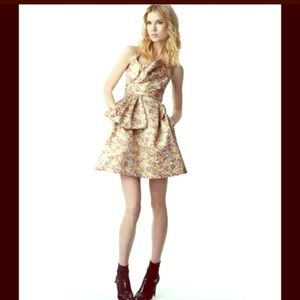 ZAK POSEN Brocade Bow Dress