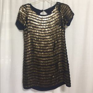 French Connection Navy Sequin Dress