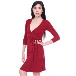 American Apparel Red Wrap Dress