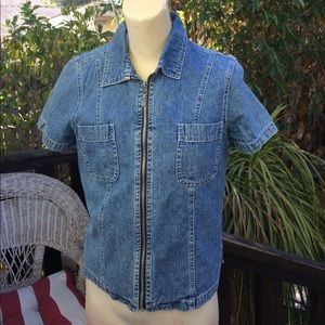 ☮️NY&Co Denim Vest with 2 Front Pockets excellent