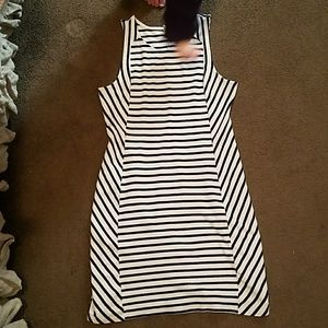 Cotton/spandex sleeveless dress