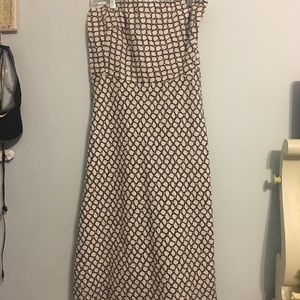 J. Crew brown and white dress
